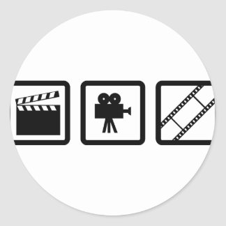 filmmaking gear round sticker