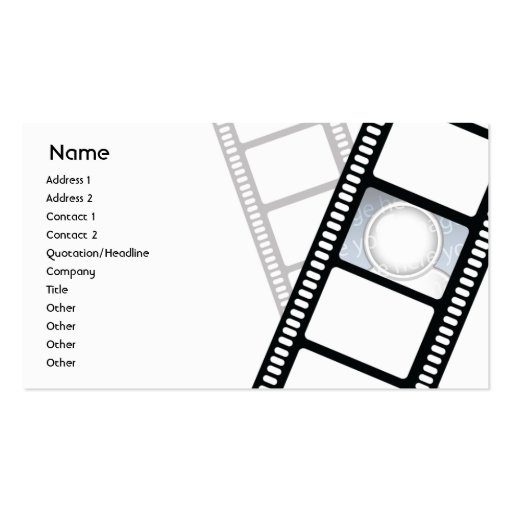 Filmstrip - Business Business Card