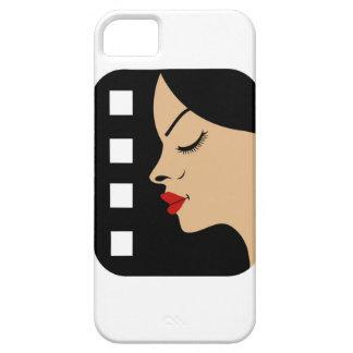 Filmstrip con vista lateral de una mujer funda para iPhone 5 barely there