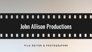 Filmmaker business cards zazzle filmstrip filmmaker cinematographer business card colourmoves
