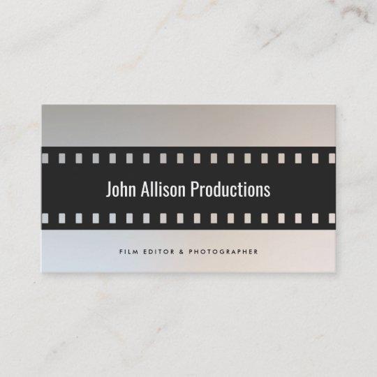 filmstrip filmmaker cinematographer business card - Filmmaker Business Card