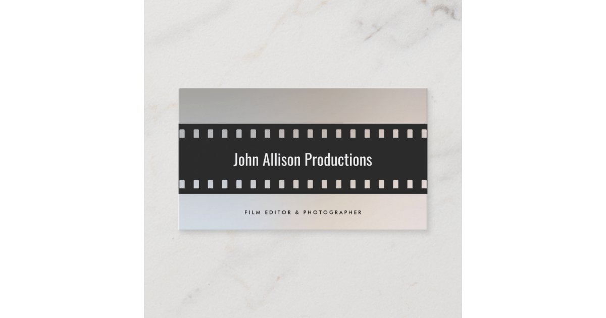 Filmstrip Filmmaker Cinematographer Business Card | Zazzle.com