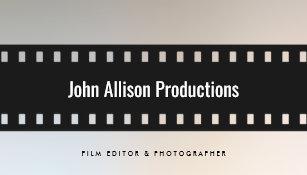 Filmmaker business cards templates zazzle filmstrip filmmaker cinematographer business card colourmoves Choice Image