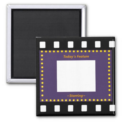 Filmstrip Picture Frame 2 Inch Square Magnet