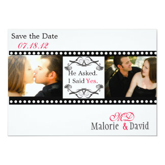 Filmstrip Save the Date Card