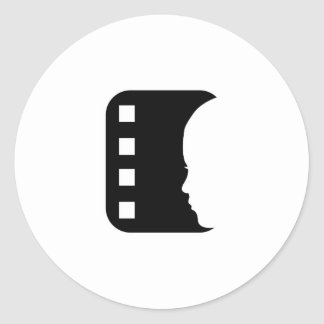 Filmstrip with side view of a woman stickers