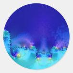 Filón azul pegatina redonda