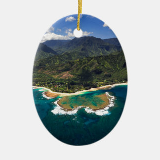 Filón de los túneles en la isla hawaiana de Kauai Ornamento De Navidad