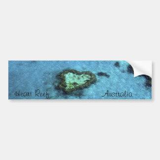 Filón del corazón - Australia Etiqueta De Parachoque