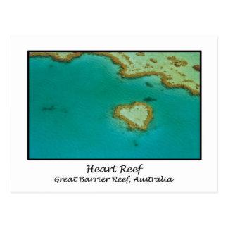 Filón del corazón, la gran barrera de coral, postal