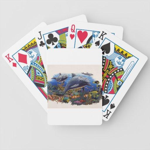 Filón del delfín acuático baraja cartas de poker