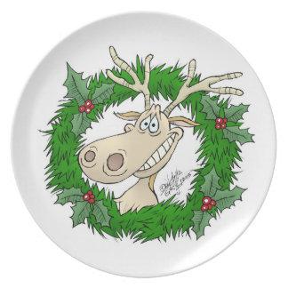 Filón del reno, en una placa de cena platos para fiestas