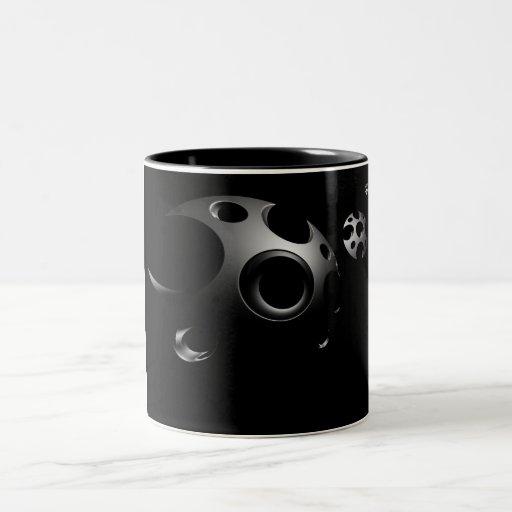 Filos que cortan el espacio tazas de café