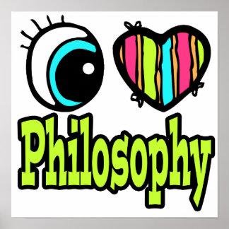 Filosofía brillante del amor del corazón I del ojo Póster