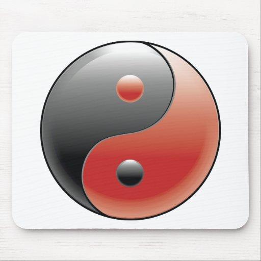Filosofía china del Taoism del ~ de Yin Yang Mouse Pads
