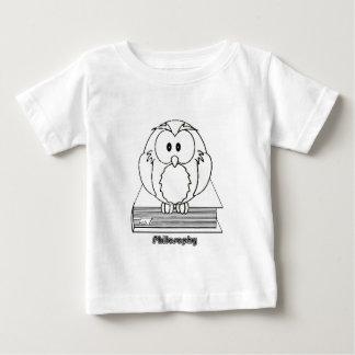 Filosofia Coruja com livro Philosophy Owl on book Baby T-Shirt