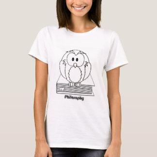 Filosofia Coruja com livro Philosophy Owl on book T-Shirt