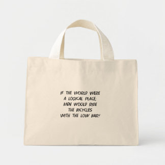 Filosofía de la bicicleta bolsa tela pequeña