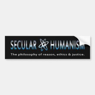 Filosofía del BMP del humanismo secular Pegatina De Parachoque