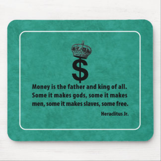 Filosofía del dinero tapete de ratones
