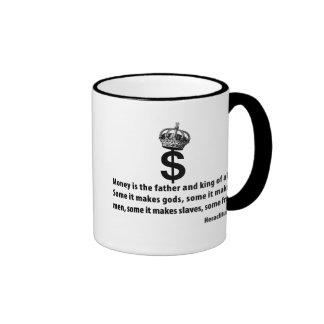Filosofía del dinero tazas de café