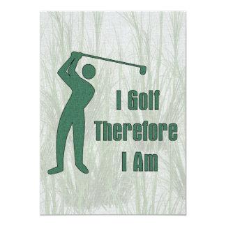 """Filosofía Golfing Invitación 5"""" X 7"""""""