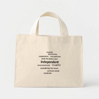 Filosofía independiente y valores del votante bolsa de mano