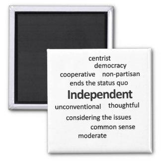 Filosofía independiente y valores del votante iman para frigorífico