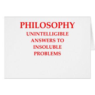 filosofía tarjeta de felicitación