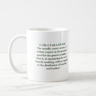 Filosofía utilitaria taza clásica
