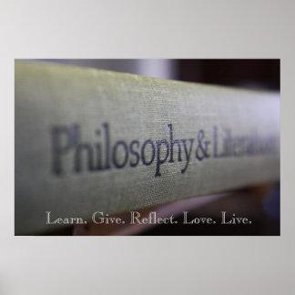 Filosofía y literatura póster