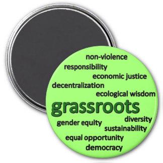 Filosofía y valores verdes imán redondo 7 cm