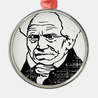 Filósofo alemán Arthur Schopenhauer de Felix Adorno Navideño Redondo De Metal