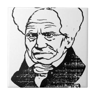 Filósofo alemán Arthur Schopenhauer de Felix Azulejo Cuadrado Pequeño