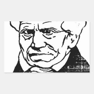 Filósofo alemán Arthur Schopenhauer de Felix Pegatina Rectangular