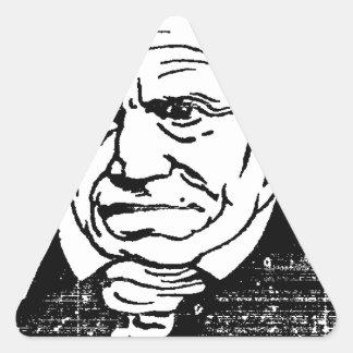 Filósofo alemán Arthur Schopenhauer de Felix Pegatina Triangular