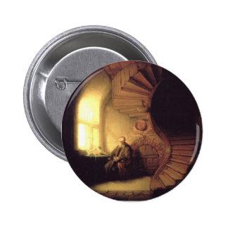 Filósofo de Rembrandt en la meditación Pins