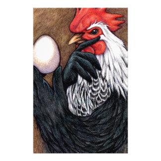 Filósofo del pollo del dibujo del huevo del gallo papeleria