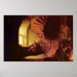 Filósofo en la meditación. Por Rembrandt Van Rijn Posters