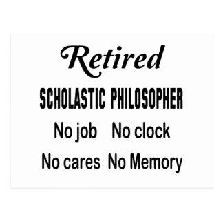 Filósofo escolástico jubilado ningún trabajo postal