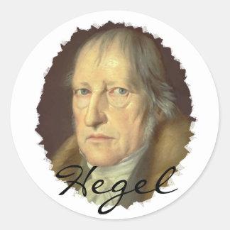 Filósofo Jorge Hegel Pegatinas Redondas