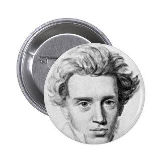 Filósofo Soren Kierkegaard Pin Redondo De 2 Pulgadas
