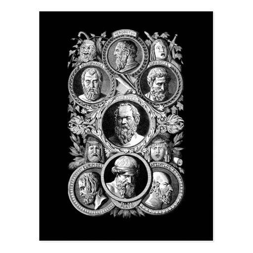 Filósofos griegos postal