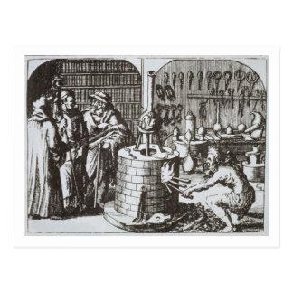 Filósofos herméticos y un alquimista, de la 'musa postales