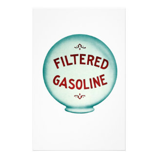 Filtered Gasoline - Vintage Advertising Personalized Stationery