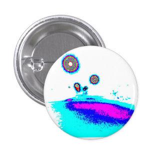 filtered glitch photo light blue 1 inch round button