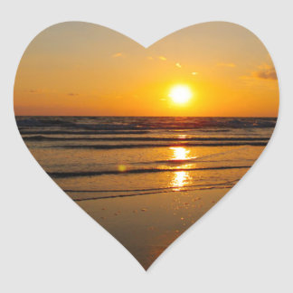 Filtered Sunset Heart Sticker