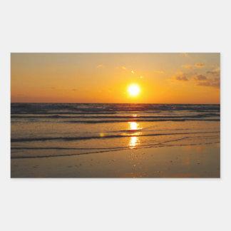 Filtered Sunset Rectangular Sticker