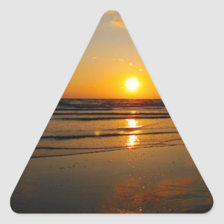 Filtered Sunset Triangle Sticker