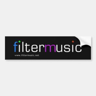 FilterMusic bumper sticker Car Bumper Sticker